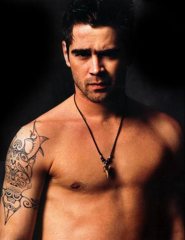 Colin Farrell Tribal Tattoo