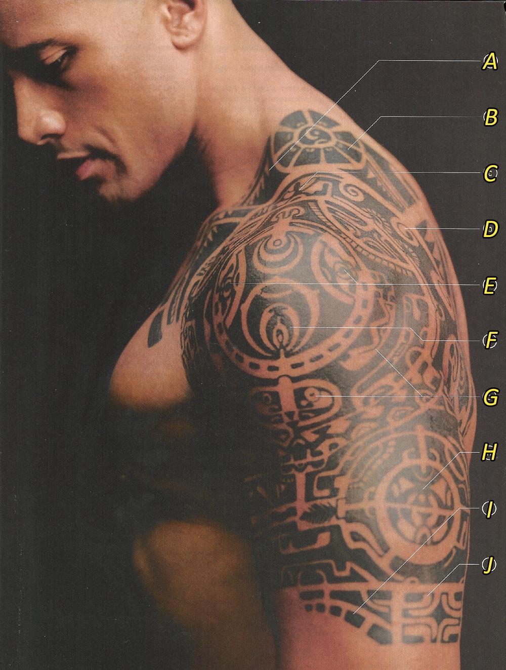 dwayne johnson tattoos celebrities tattooed. Black Bedroom Furniture Sets. Home Design Ideas