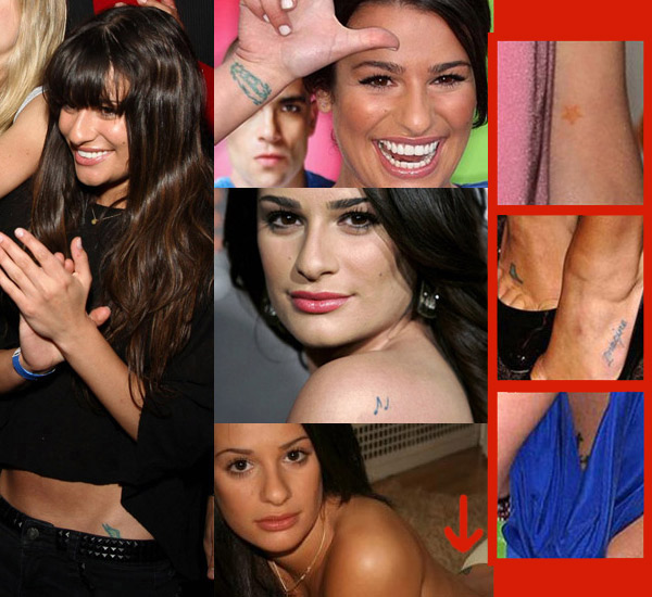 Lea Michelle Tattoos