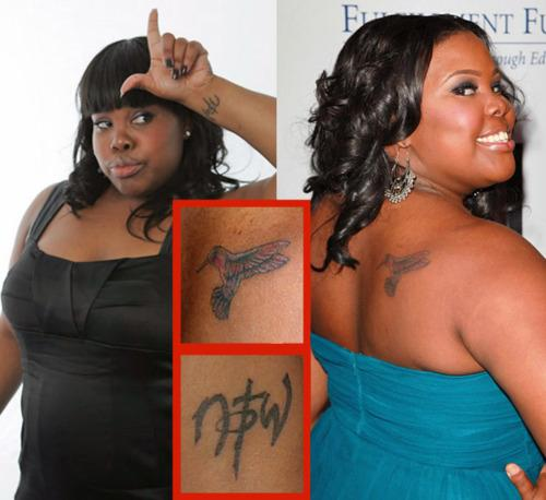 Amber Riley Tattoo