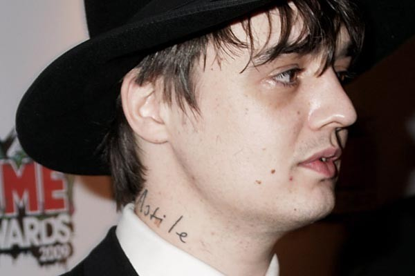 Pete Doherty tattoos