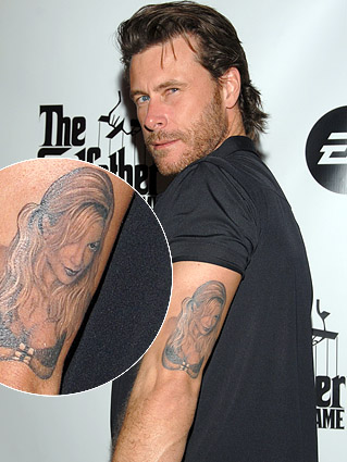 Dean Mcdermott Tattoos on romantic letters