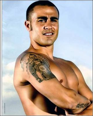 Fabio Cannavaro tattoos