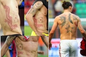 Zlatan Ibrahimovic Tattoos