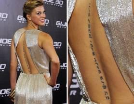 Adrianne Palicki Tattoos