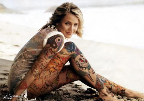 Cameron Diaz Tattoos