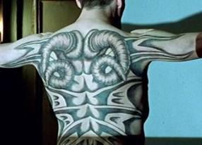 Ralph Fiennes tattoo