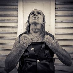 Indian Larry and his tattoos