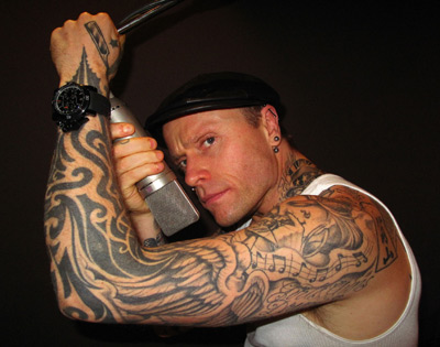 keith flint tattoos celebrities tattooed. Black Bedroom Furniture Sets. Home Design Ideas
