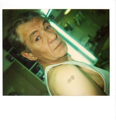 Sir Ian Murray McKellen tattoos